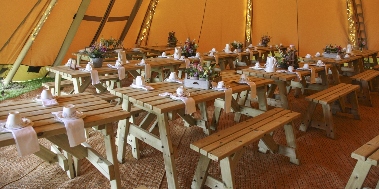 Our Tipis are perfect for holding parties and events